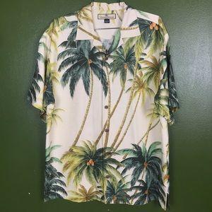 Tommy Bahama Palm tree Silk shirt